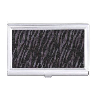 SKIN3 BLACK MARBLE & BLACK WATERCOLOR BUSINESS CARD CASE