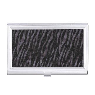 SKIN3 BLACK MARBLE & BLACK WATERCOLOR BUSINESS CARD HOLDER
