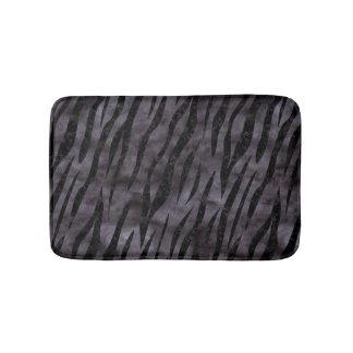 SKIN3 BLACK MARBLE & BLACK WATERCOLOR (R) BATH MAT