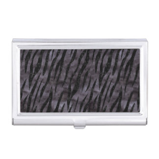 SKIN3 BLACK MARBLE & BLACK WATERCOLOR (R) BUSINESS CARD HOLDER