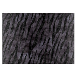 SKIN3 BLACK MARBLE & BLACK WATERCOLOR (R) CUTTING BOARD