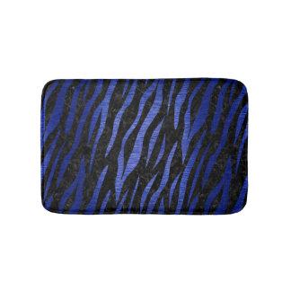 SKIN3 BLACK MARBLE & BLUE BRUSHED METAL BATH MAT