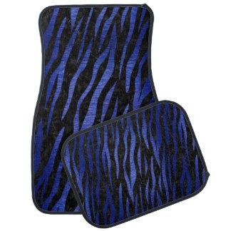 SKIN3 BLACK MARBLE & BLUE BRUSHED METAL CAR MAT