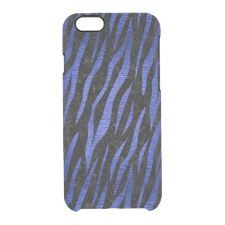 SKIN3 BLACK MARBLE & BLUE BRUSHED METAL CLEAR iPhone 6/6S CASE