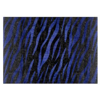 SKIN3 BLACK MARBLE & BLUE BRUSHED METAL CUTTING BOARD