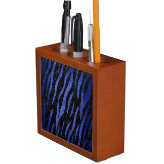 SKIN3 BLACK MARBLE & BLUE BRUSHED METAL DESK ORGANISER