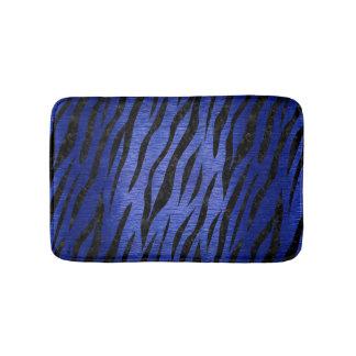 SKIN3 BLACK MARBLE & BLUE BRUSHED METAL (R) BATH MAT