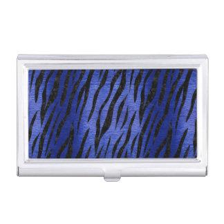 SKIN3 BLACK MARBLE & BLUE BRUSHED METAL (R) BUSINESS CARD HOLDER