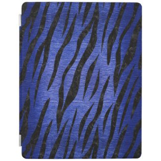 SKIN3 BLACK MARBLE & BLUE BRUSHED METAL (R) iPad COVER