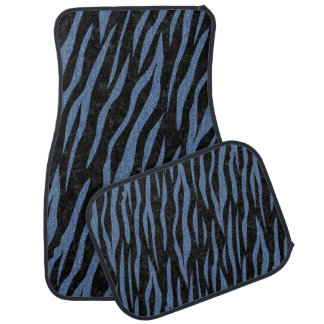 SKIN3 BLACK MARBLE & BLUE DENIM CAR MAT