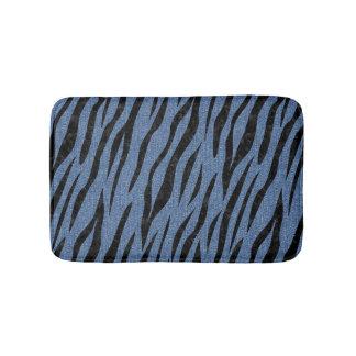 SKIN3 BLACK MARBLE & BLUE DENIM (R) BATH MAT