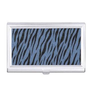 SKIN3 BLACK MARBLE & BLUE DENIM (R) BUSINESS CARD HOLDER