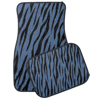 SKIN3 BLACK MARBLE & BLUE DENIM (R) CAR MAT
