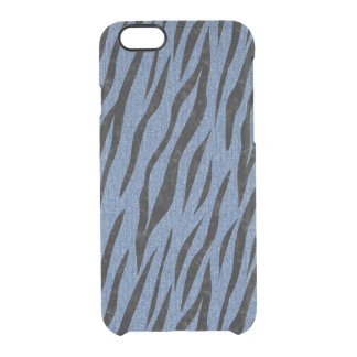 SKIN3 BLACK MARBLE & BLUE DENIM (R) CLEAR iPhone 6/6S CASE