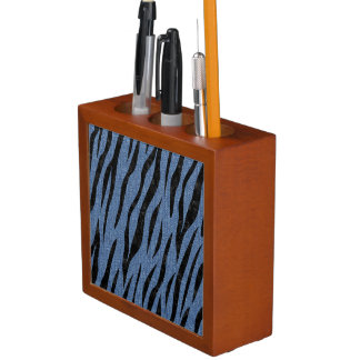 SKIN3 BLACK MARBLE & BLUE DENIM (R) DESK ORGANISER