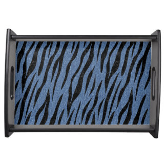 SKIN3 BLACK MARBLE & BLUE DENIM (R) SERVING TRAY