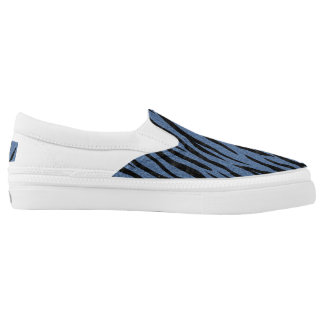 SKIN3 BLACK MARBLE & BLUE DENIM (R) SLIP ON SHOES