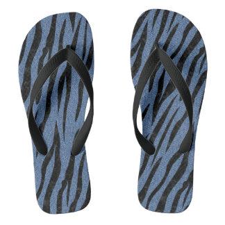 SKIN3 BLACK MARBLE & BLUE DENIM (R) THONGS