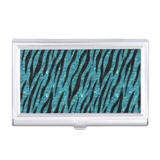 SKIN3 BLACK MARBLE & BLUE-GREEN WATER (R) BUSINESS CARD HOLDER