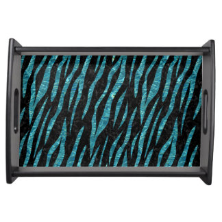SKIN3 BLACK MARBLE & BLUE-GREEN WATER SERVING TRAY
