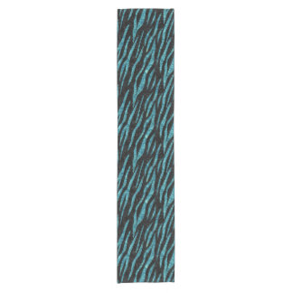 SKIN3 BLACK MARBLE & BLUE-GREEN WATER SHORT TABLE RUNNER