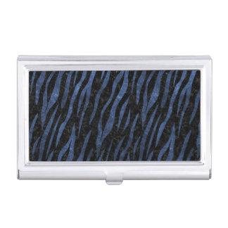 SKIN3 BLACK MARBLE & BLUE LEATHER BUSINESS CARD HOLDER