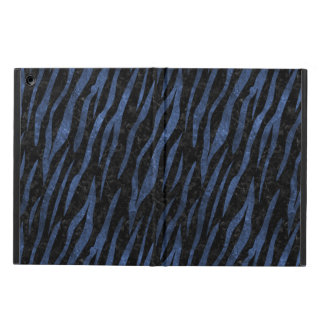 SKIN3 BLACK MARBLE & BLUE LEATHER iPad AIR CASE