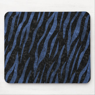 SKIN3 BLACK MARBLE & BLUE LEATHER MOUSE PAD