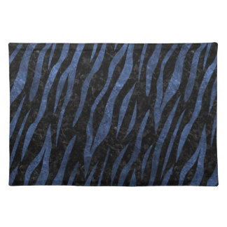 SKIN3 BLACK MARBLE & BLUE LEATHER PLACEMAT