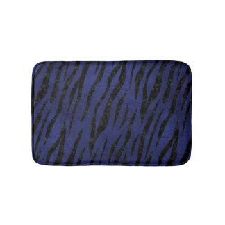 SKIN3 BLACK MARBLE & BLUE LEATHER (R) BATH MAT