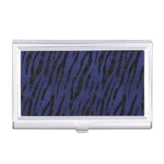 SKIN3 BLACK MARBLE & BLUE LEATHER (R) BUSINESS CARD HOLDER