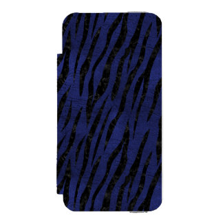 SKIN3 BLACK MARBLE & BLUE LEATHER (R) INCIPIO WATSON™ iPhone 5 WALLET CASE