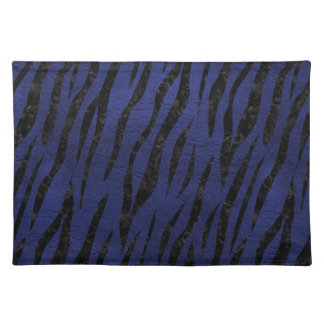 SKIN3 BLACK MARBLE & BLUE LEATHER (R) PLACEMAT