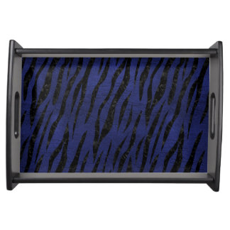 SKIN3 BLACK MARBLE & BLUE LEATHER (R) SERVING TRAY