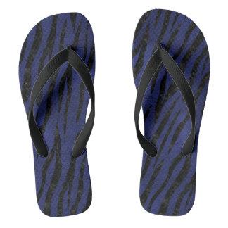 SKIN3 BLACK MARBLE & BLUE LEATHER (R) THONGS