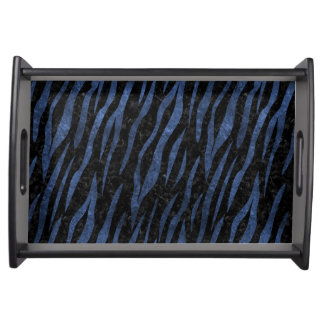 SKIN3 BLACK MARBLE & BLUE LEATHER SERVING TRAY