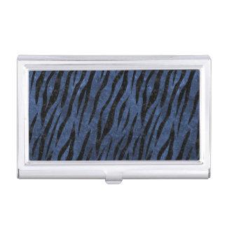 SKIN3 BLACK MARBLE & BLUE STONE (R) BUSINESS CARD HOLDER