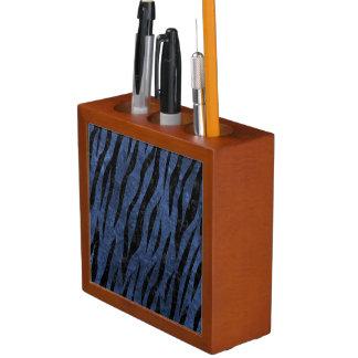 SKIN3 BLACK MARBLE & BLUE STONE (R) DESK ORGANISER