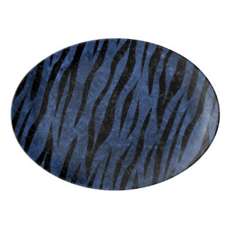 SKIN3 BLACK MARBLE & BLUE STONE (R) PORCELAIN SERVING PLATTER