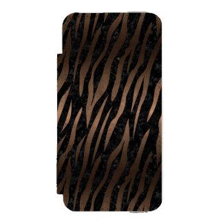 SKIN3 BLACK MARBLE & BRONZE METAL INCIPIO WATSON™ iPhone 5 WALLET CASE