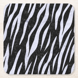 SKIN3 BLACK MARBLE & WHITE MARBLE SQUARE PAPER COASTER