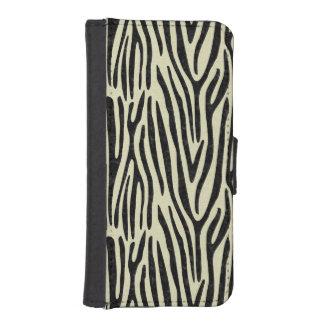 SKIN4 BLACK MARBLE & BEIGE LINEN iPhone SE/5/5s WALLET CASE