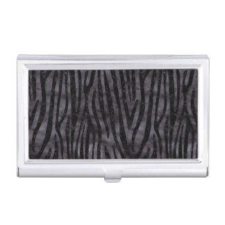 SKIN4 BLACK MARBLE & BLACK WATERCOLOR BUSINESS CARD HOLDER