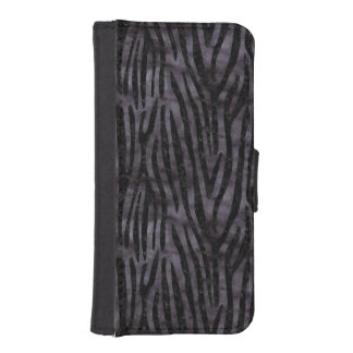 SKIN4 BLACK MARBLE & BLACK WATERCOLOR iPhone SE/5/5s WALLET CASE