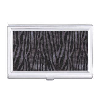 SKIN4 BLACK MARBLE & BLACK WATERCOLOR (R) BUSINESS CARD HOLDERS