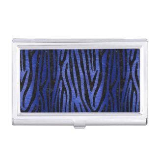 SKIN4 BLACK MARBLE & BLUE BRUSHED METAL BUSINESS CARD HOLDER