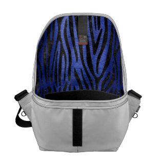 SKIN4 BLACK MARBLE & BLUE BRUSHED METAL COURIER BAG