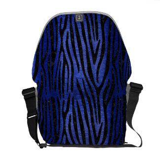 SKIN4 BLACK MARBLE & BLUE BRUSHED METAL COURIER BAGS