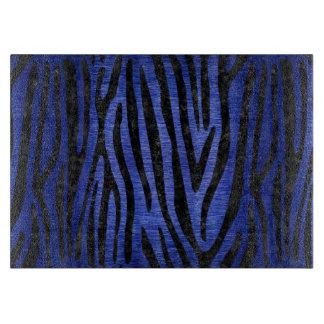 SKIN4 BLACK MARBLE & BLUE BRUSHED METAL CUTTING BOARD