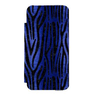 SKIN4 BLACK MARBLE & BLUE BRUSHED METAL INCIPIO WATSON™ iPhone 5 WALLET CASE